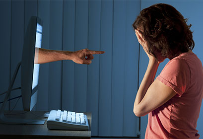 The use of Internet to stalk or harass anyone is punishable under the law with an imprisonment of up to 3-5 years.